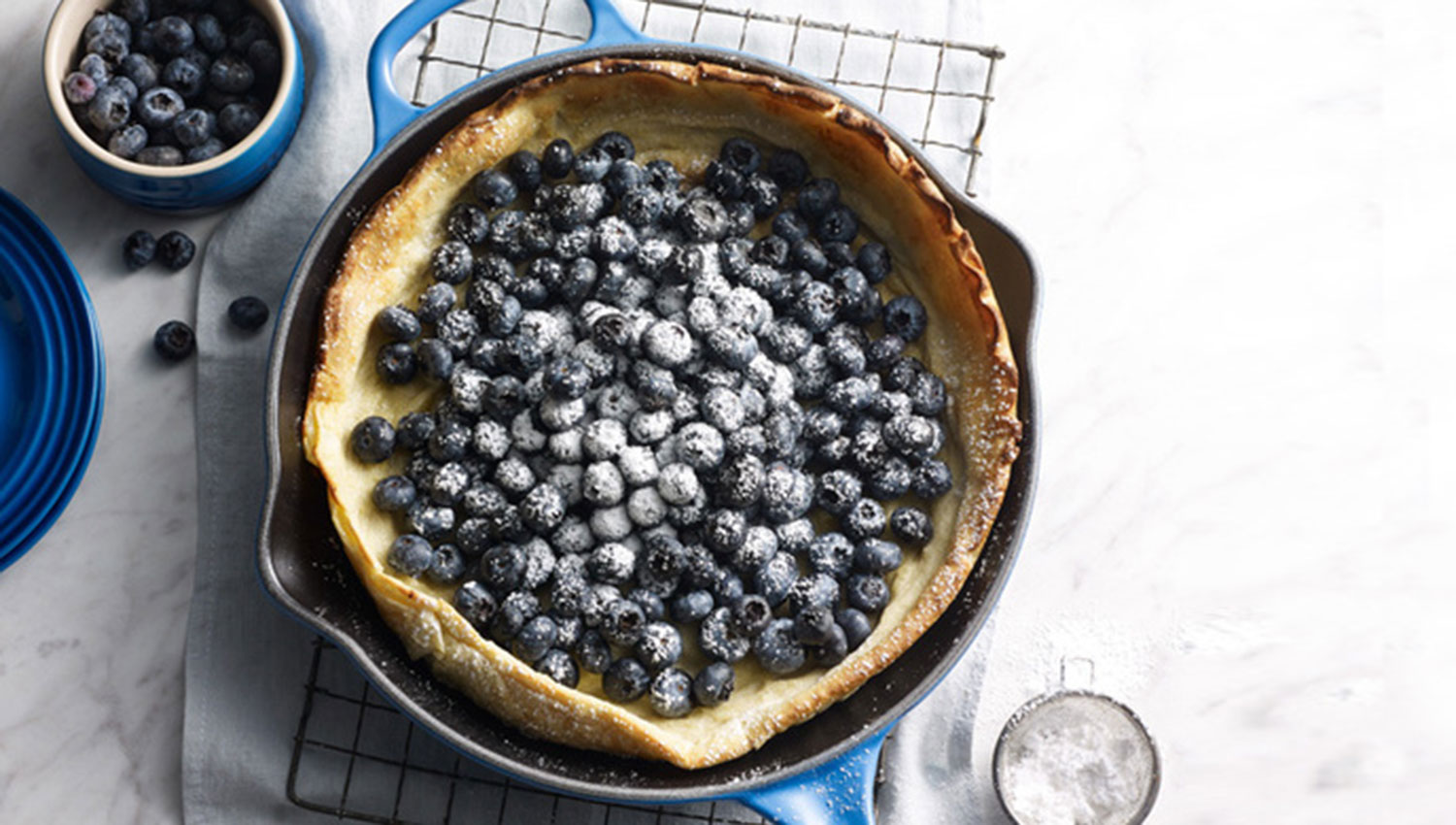 Blueberry Dutch Baby Pancake The Compleat Cook